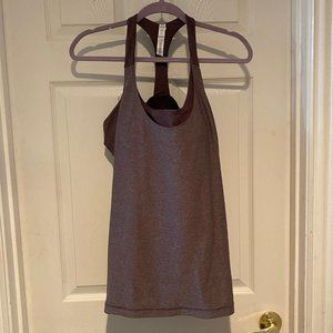 Under Armour Purple Workout Tank with built in bra